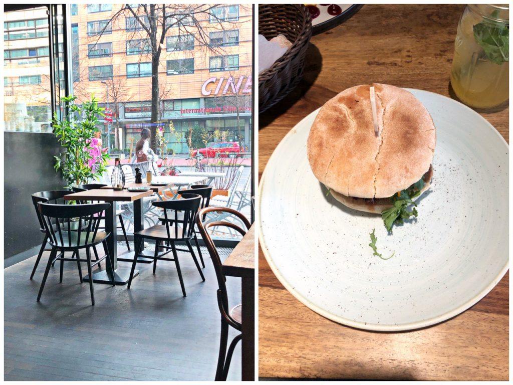 hamburger e vista sul ristorante ki-nova