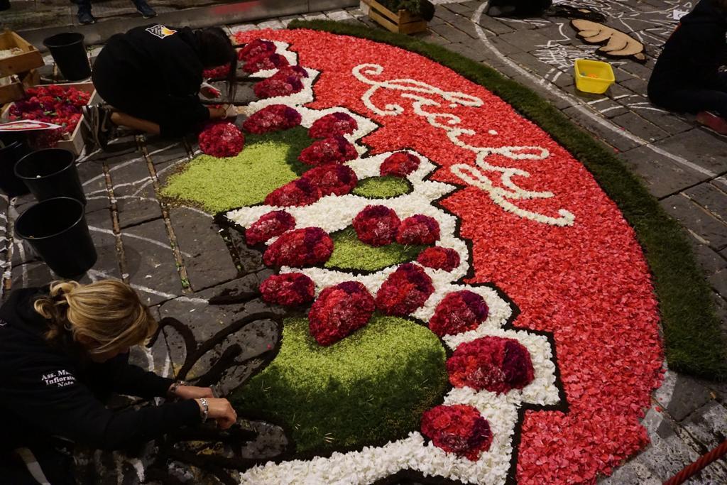 composizione artistica di petali