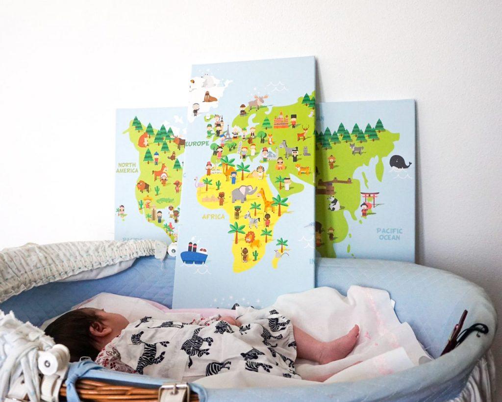 quadro in tre parti per bambini