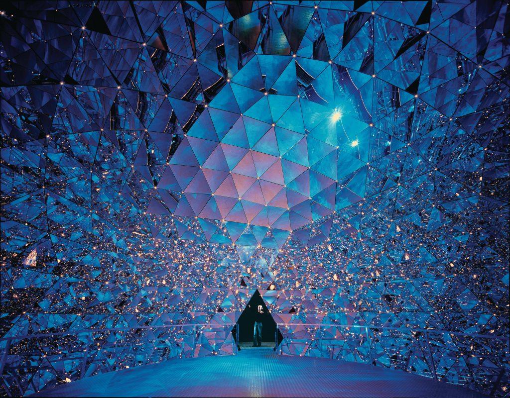 cupola di cristallo swarovski sembra di ghiaccio